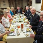 Members and guests on the 'Top Table'